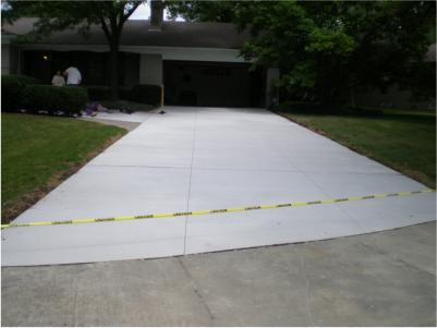 concrete driveway work
